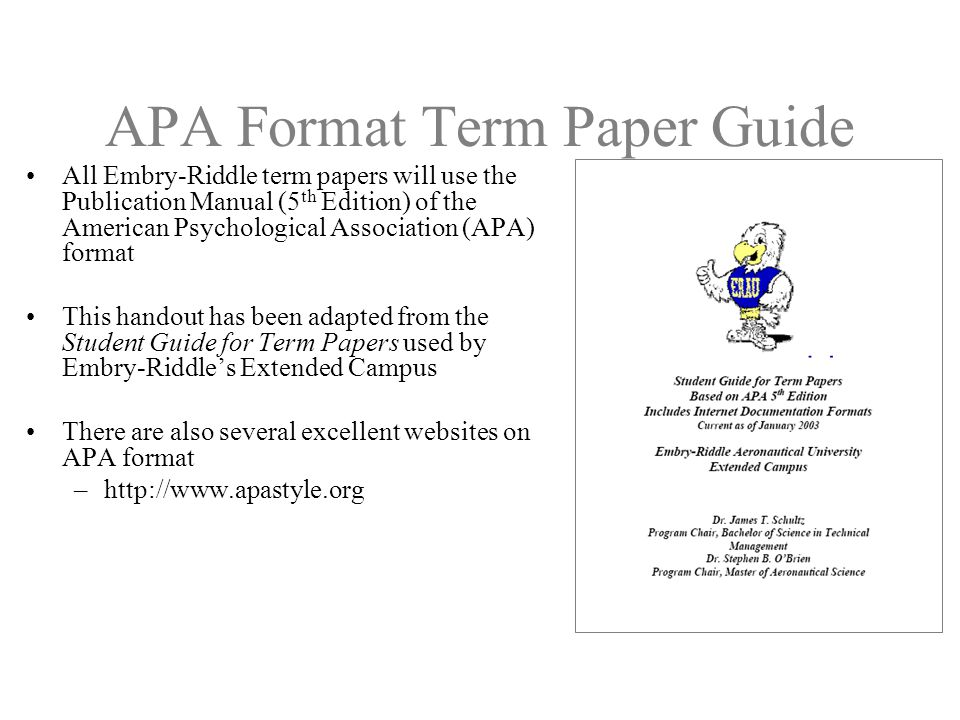 apa formatting for thesis papers