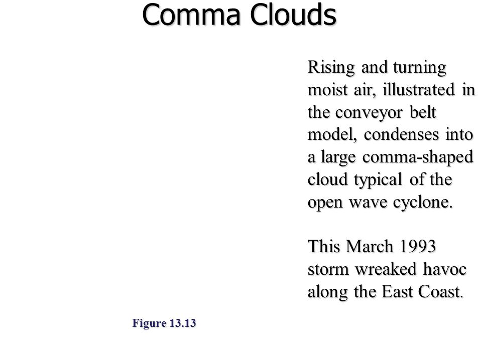 Comma Clouds