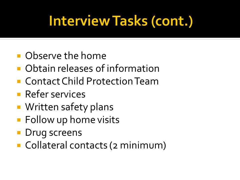Interview Tasks (cont.)