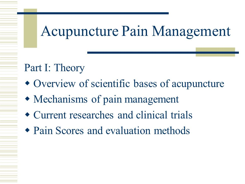 Acupuncture Pain Management
