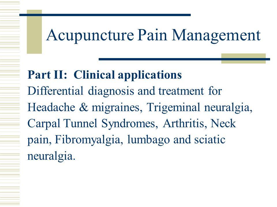Acupuncture Pain Management