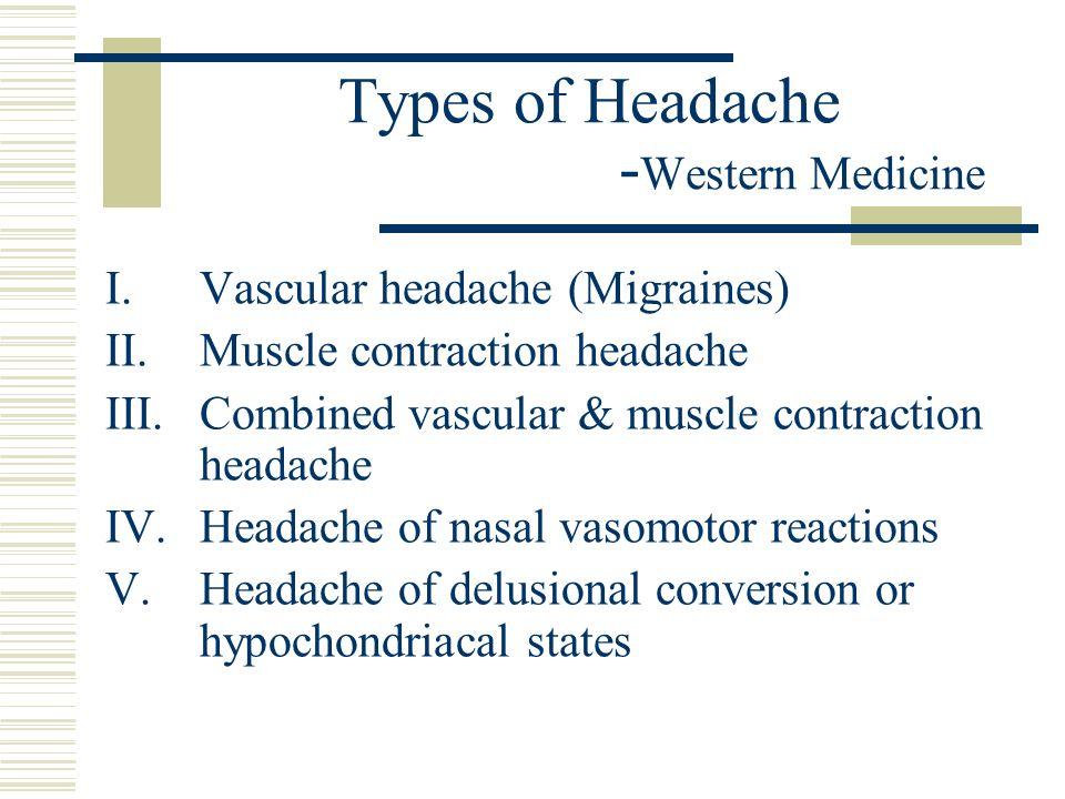 Types of Headache -Western Medicine