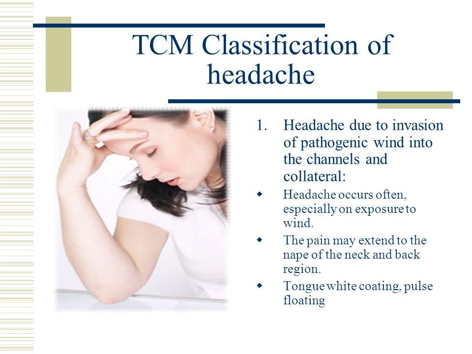 TCM Classification of headache