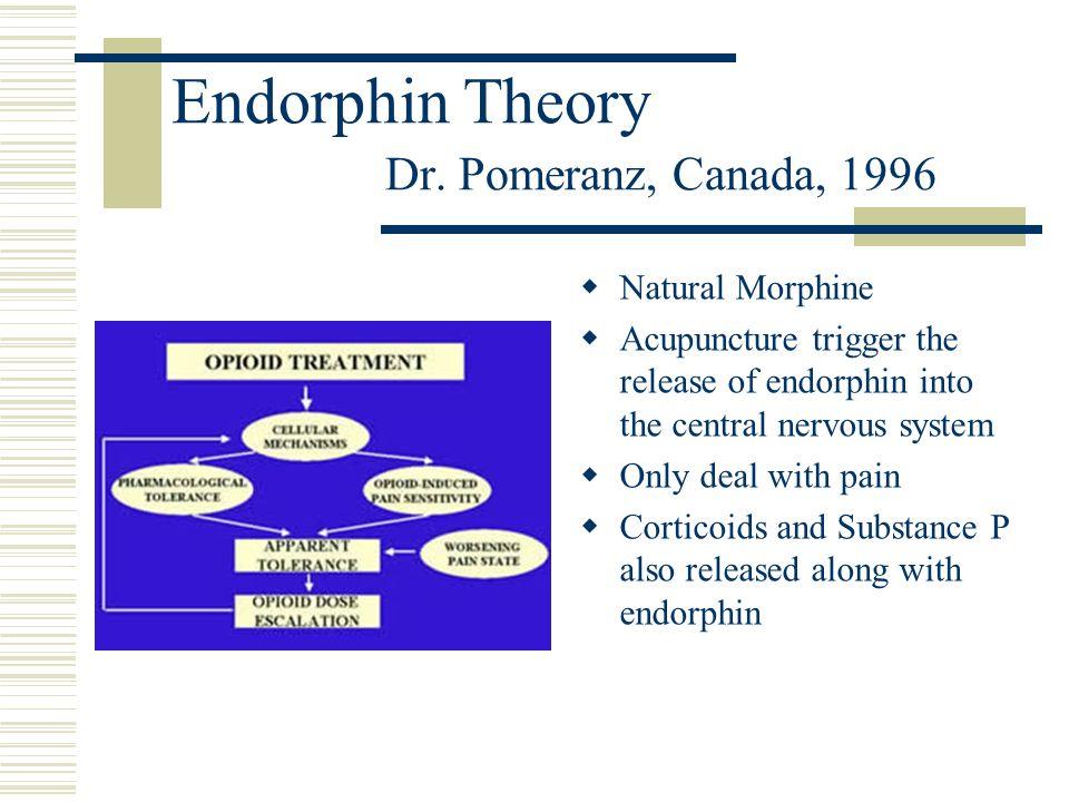 Endorphin Theory Dr. Pomeranz, Canada, 1996