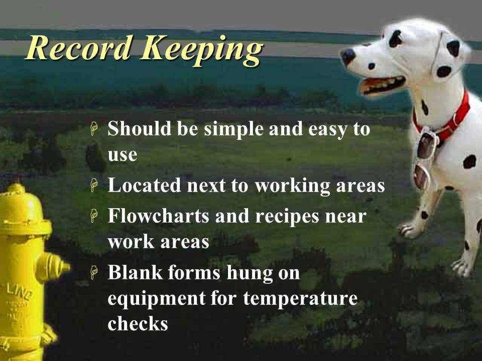 Record Keeping Should be simple and easy to use
