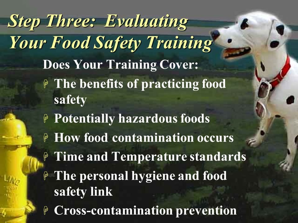 Step Three: Evaluating Your Food Safety Training