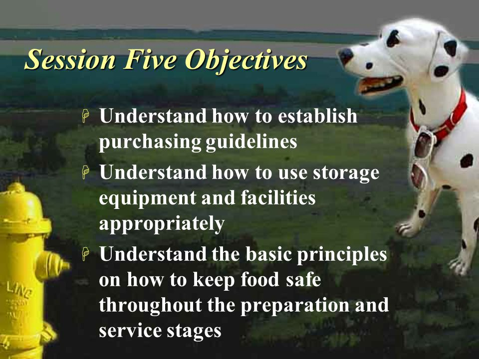 Session Five Objectives