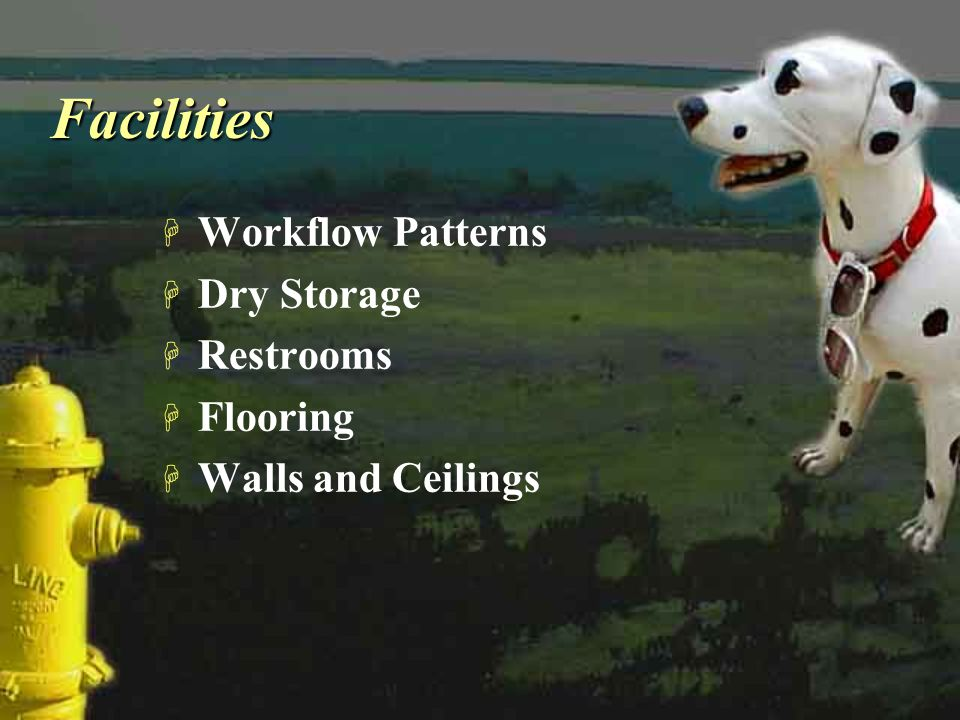 Facilities Workflow Patterns Dry Storage Restrooms Flooring