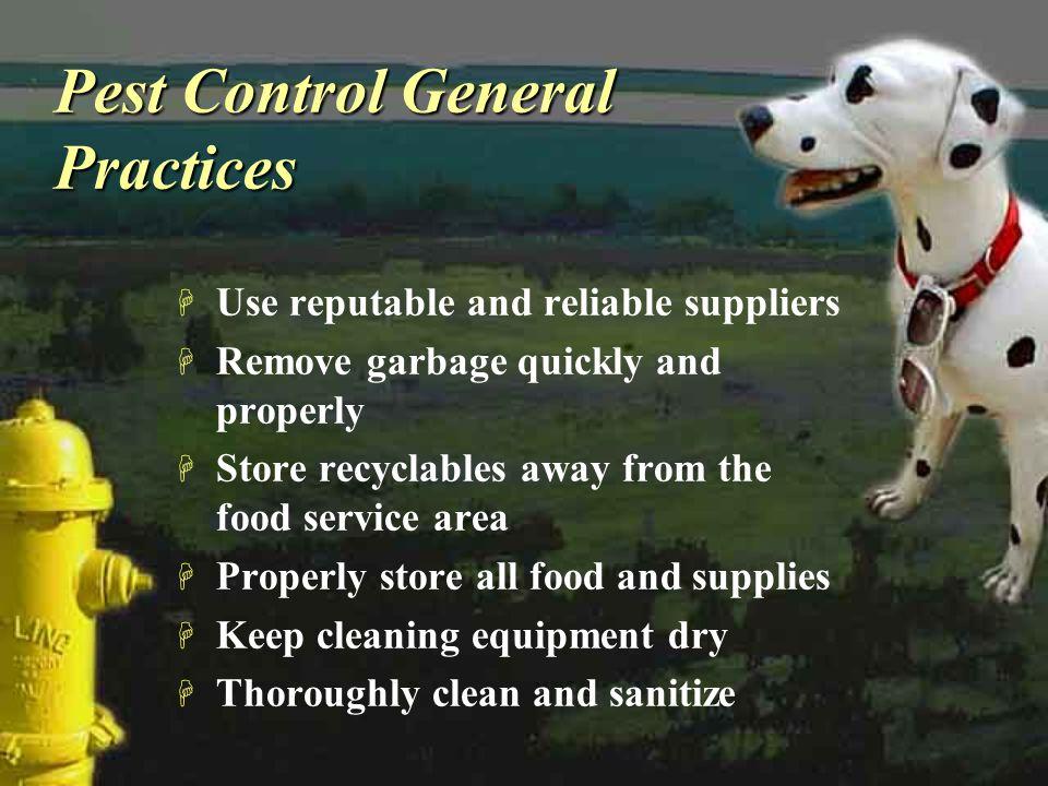 Pest Control General Practices