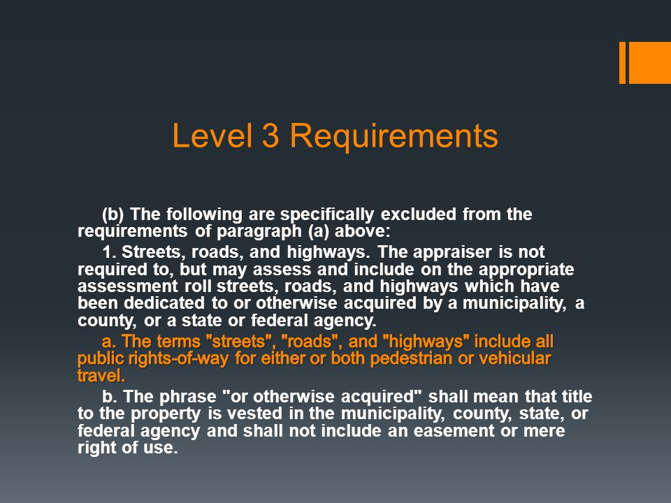 Level 3 Requirements