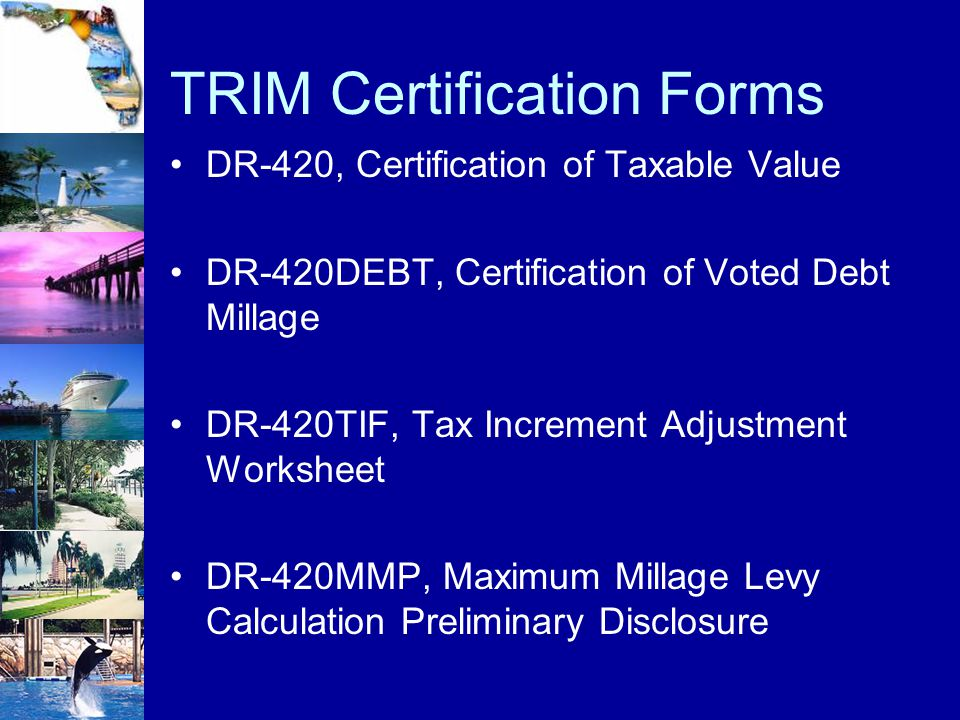 TRIM Certification Forms