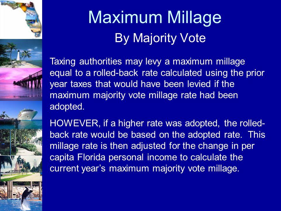 Maximum Millage By Majority Vote