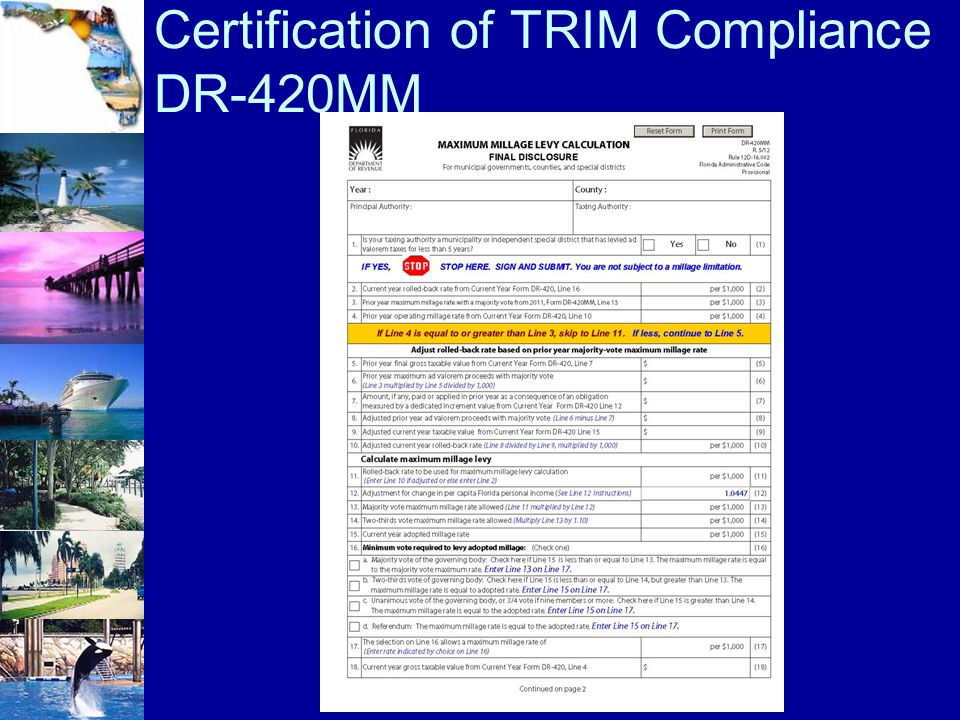 Certification of TRIM Compliance DR-420MM