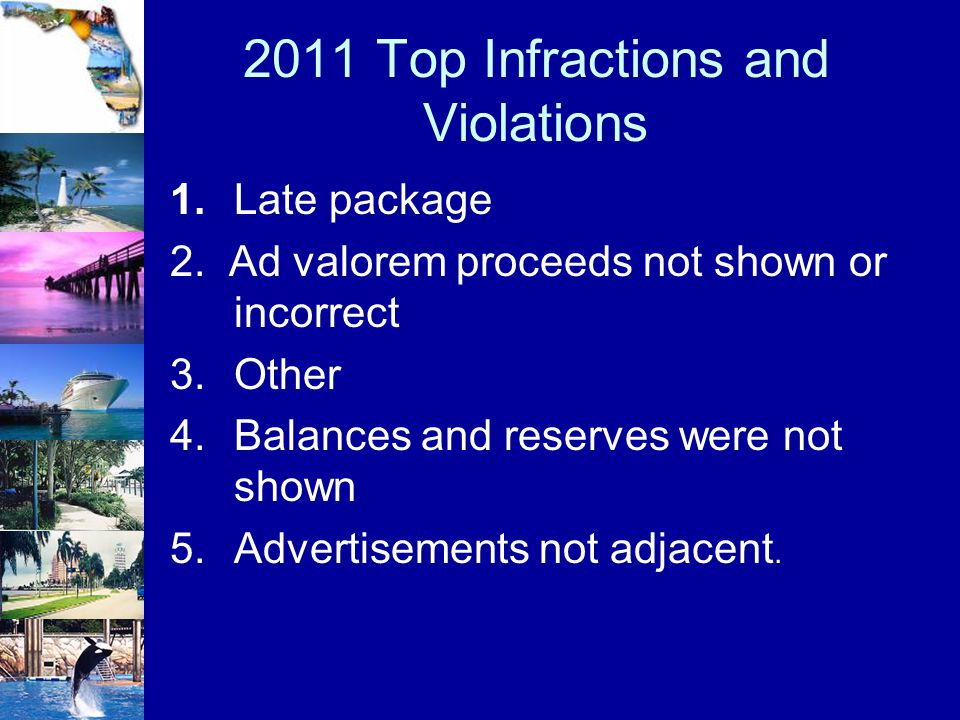 2011 Top Infractions and Violations