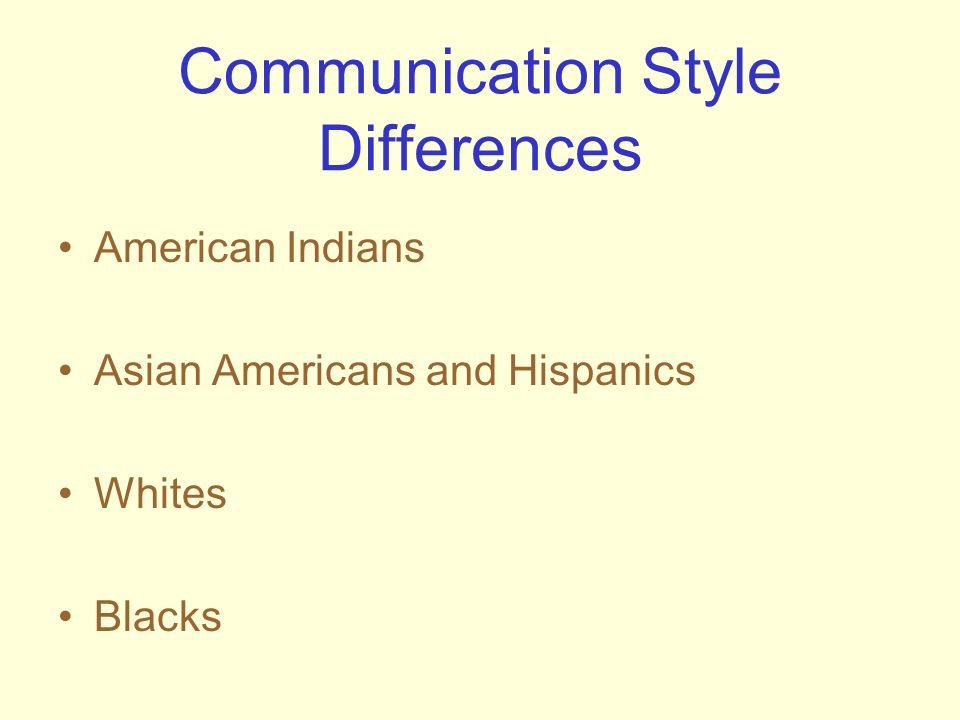 Communication Style Differences