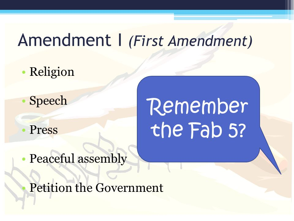 Amendment I (First Amendment)