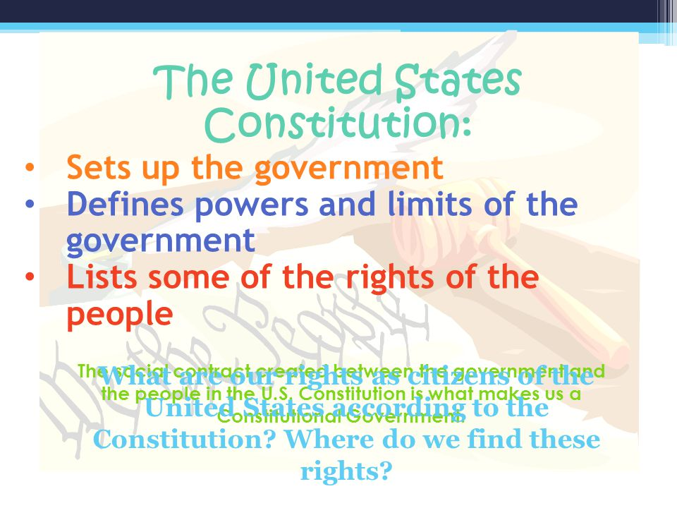 The United States Constitution: