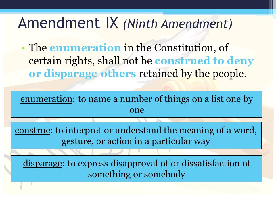 Amendment IX (Ninth Amendment)