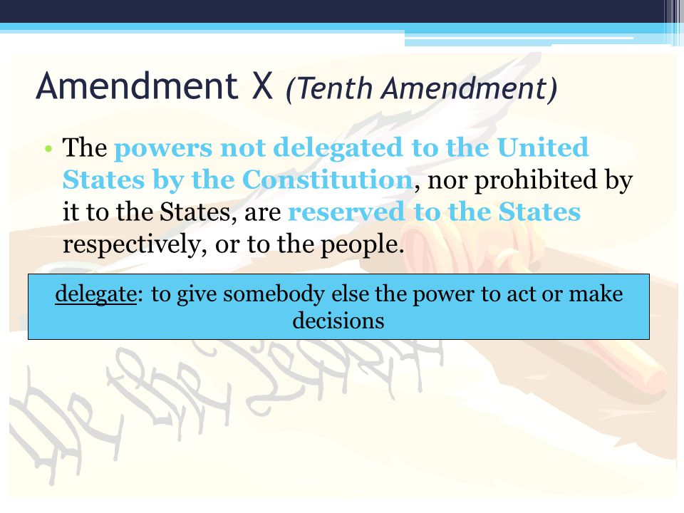 Amendment X (Tenth Amendment)