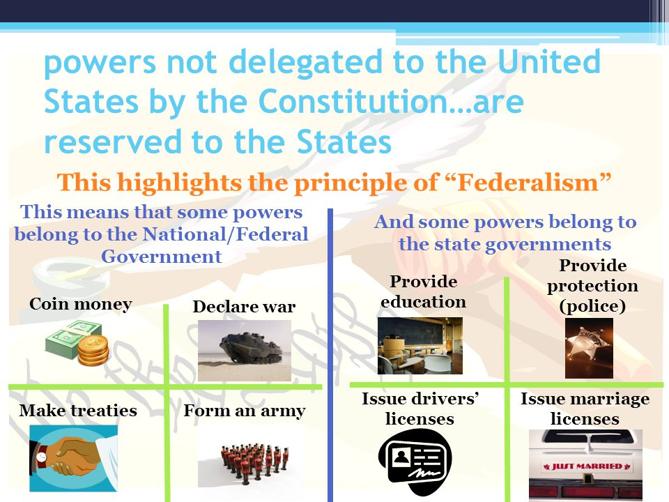 powers not delegated to the United States by the Constitution…are reserved to the States