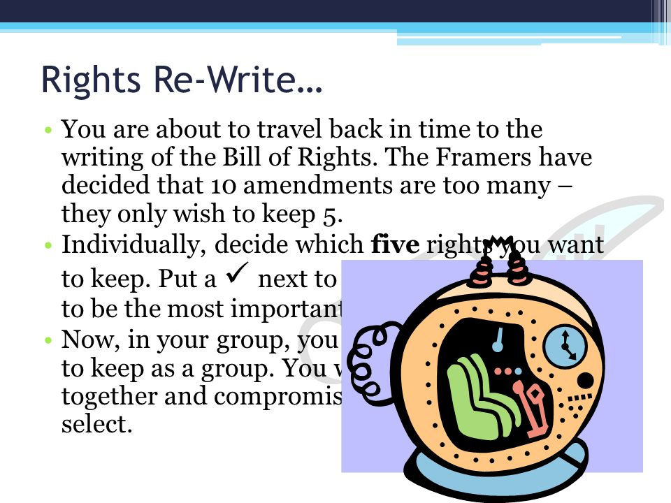 Rights Re-Write…