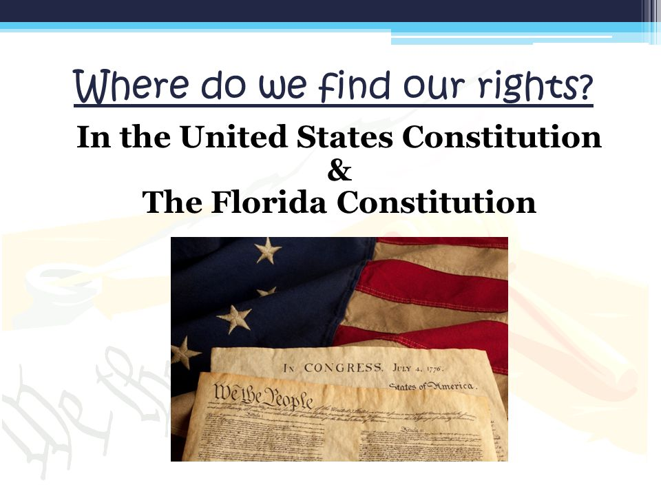 Where do we find our rights