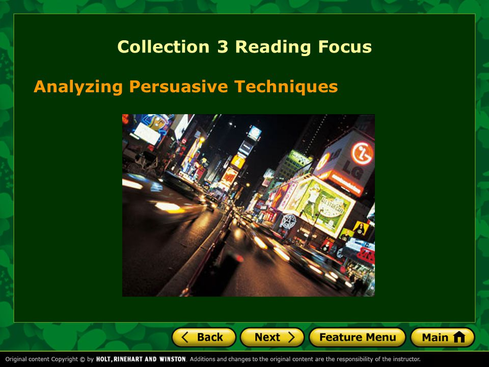 Collection 3 Reading Focus