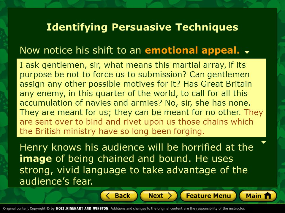 Identifying Persuasive Techniques