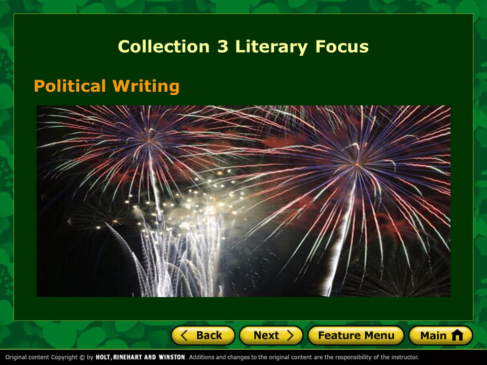 Collection 3 Literary Focus