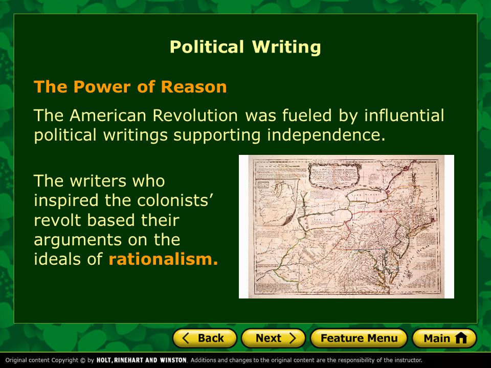 Political Writing The Power of Reason