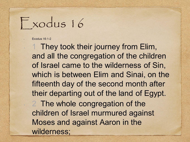 Exodus 16 Exodus 16:1-2.