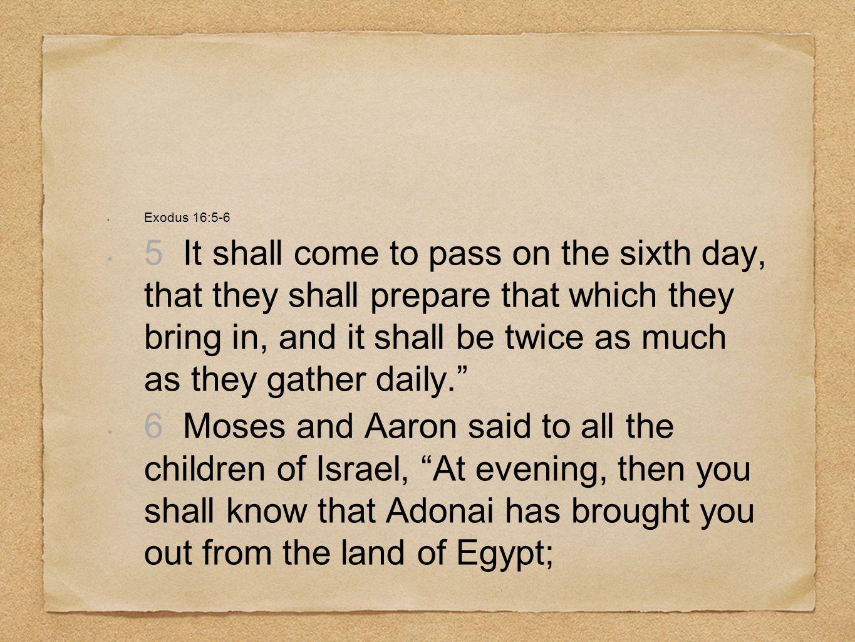 Exodus 16:5-6