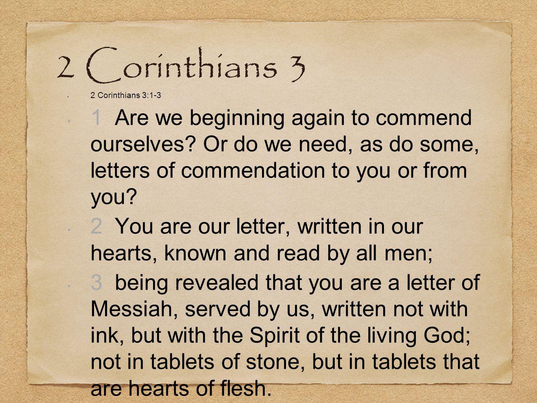 2 Corinthians 3 2 Corinthians 3:1-3.