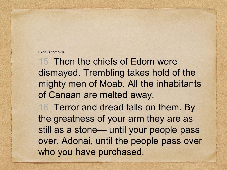 Exodus 15:15-16