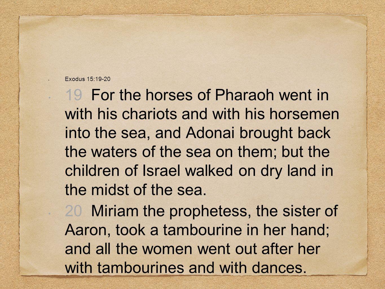 Exodus 15:19-20