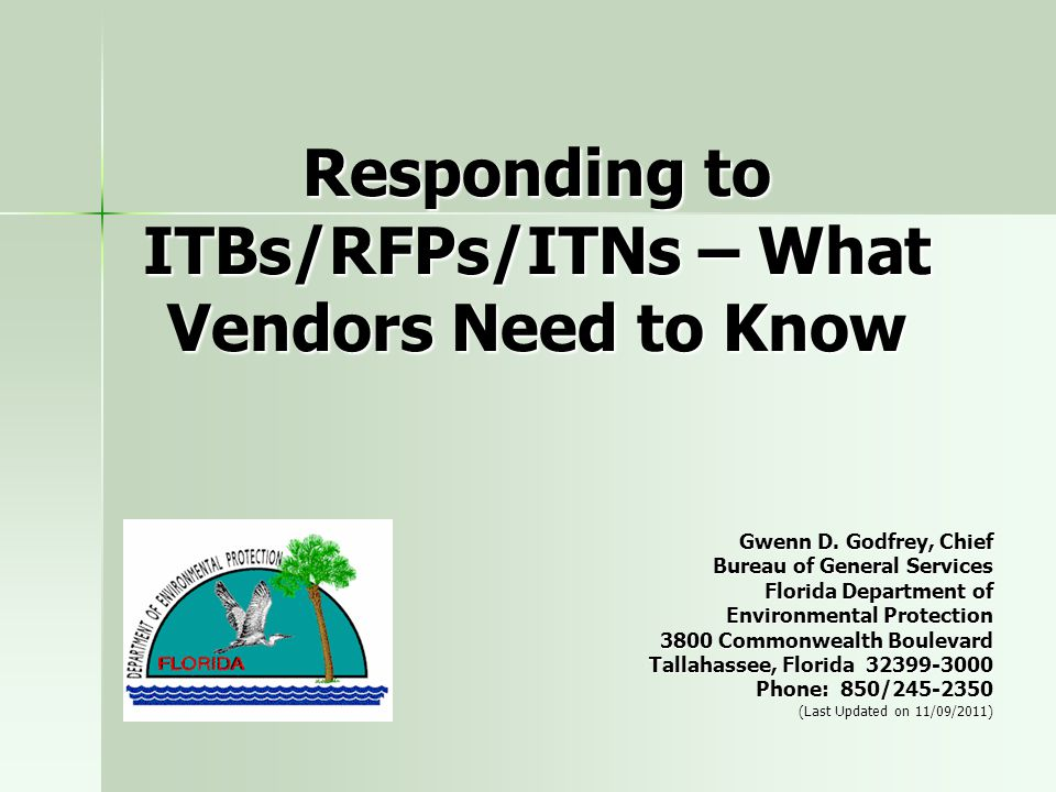 Responding to ITBs/RFPs/ITNs – What Vendors Need to Know