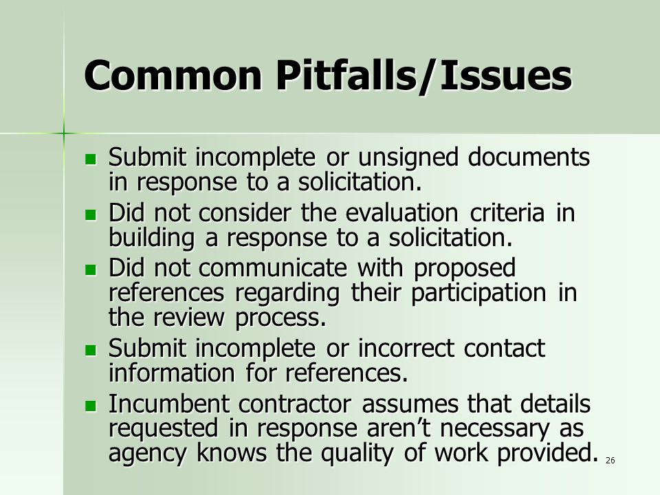 Common Pitfalls/Issues