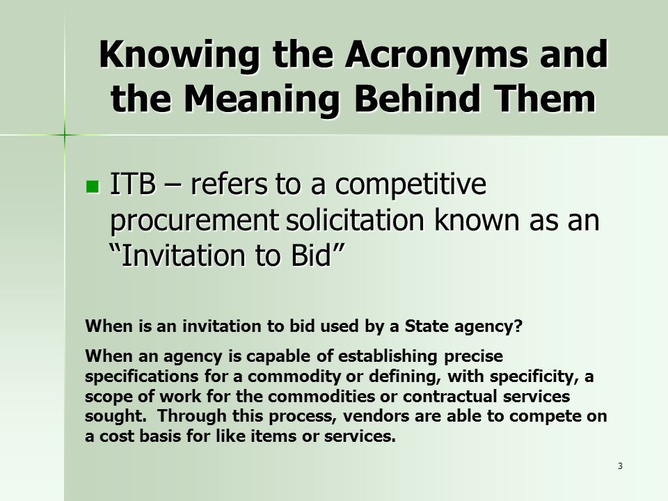 Knowing the Acronyms and the Meaning Behind Them