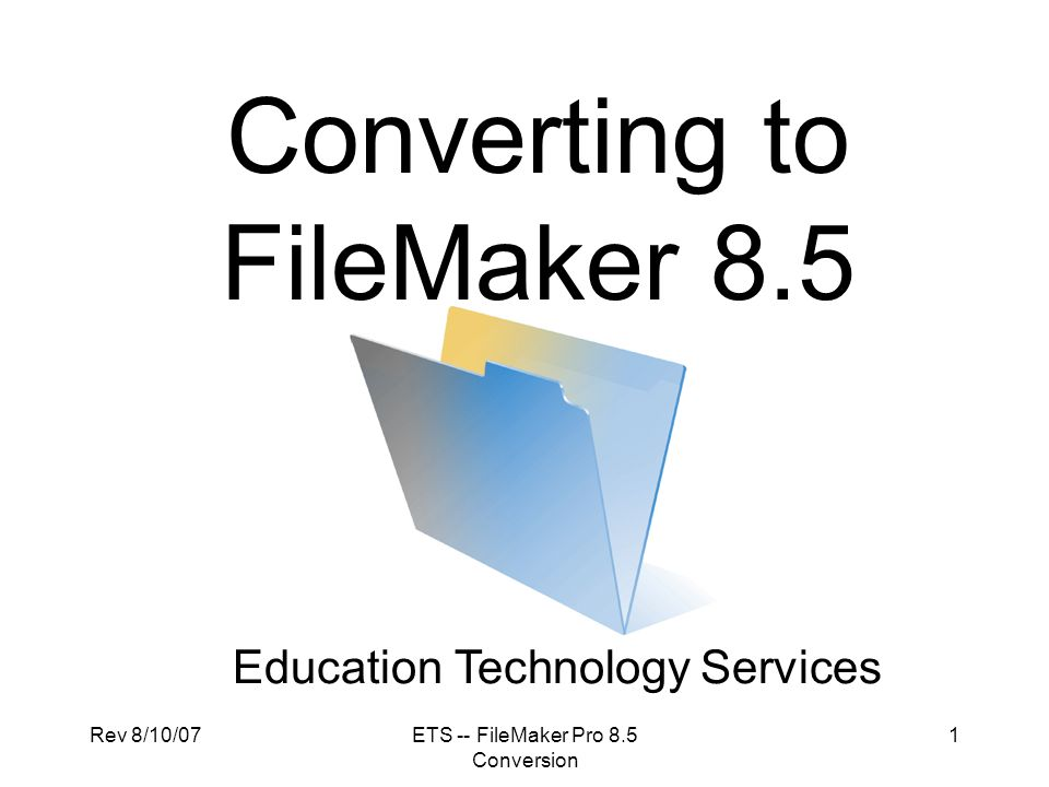 Converting to FileMaker 8.5
