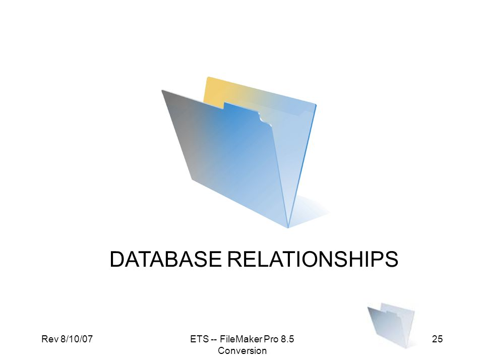 DATABASE RELATIONSHIPS