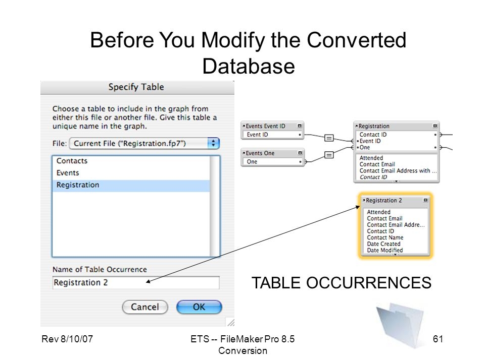 Before You Modify the Converted Database