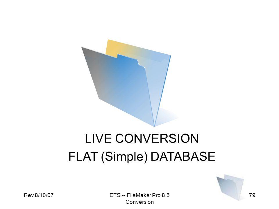FLAT (Simple) DATABASE
