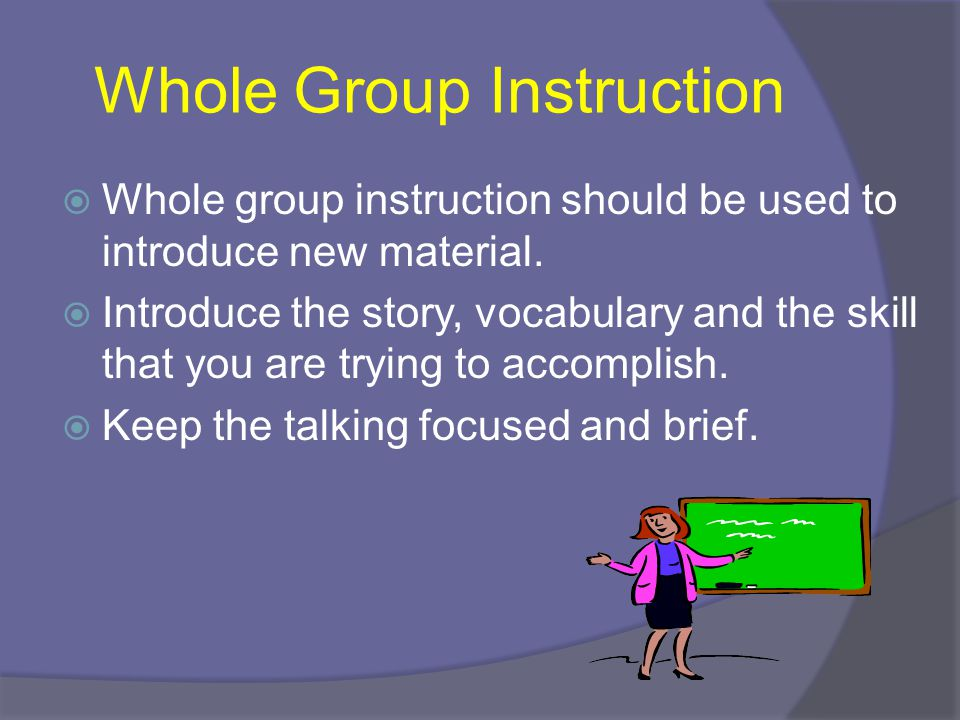 Whole Group Instruction
