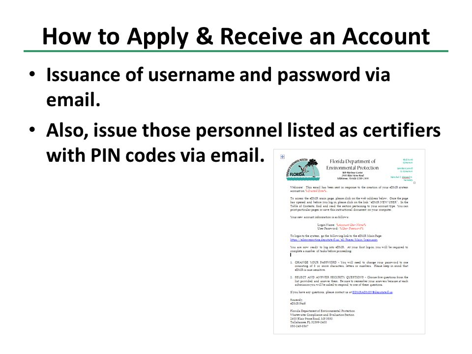 How to Apply & Receive an Account