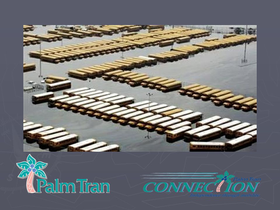 INTRODUCTION: EMPHASIZE TOPIC FOR THOSE PEOPLE WHO ARE NOT IN ATTENDANCE OR COULD NOT COME TO THE EXPO ---MAKE THEM AWARE PALM TRAN/ PALM TRAN CONNECTION IS PALM BEACH COUNTIES PUBLIC TRANSIT SYSTEM AND THAT ---