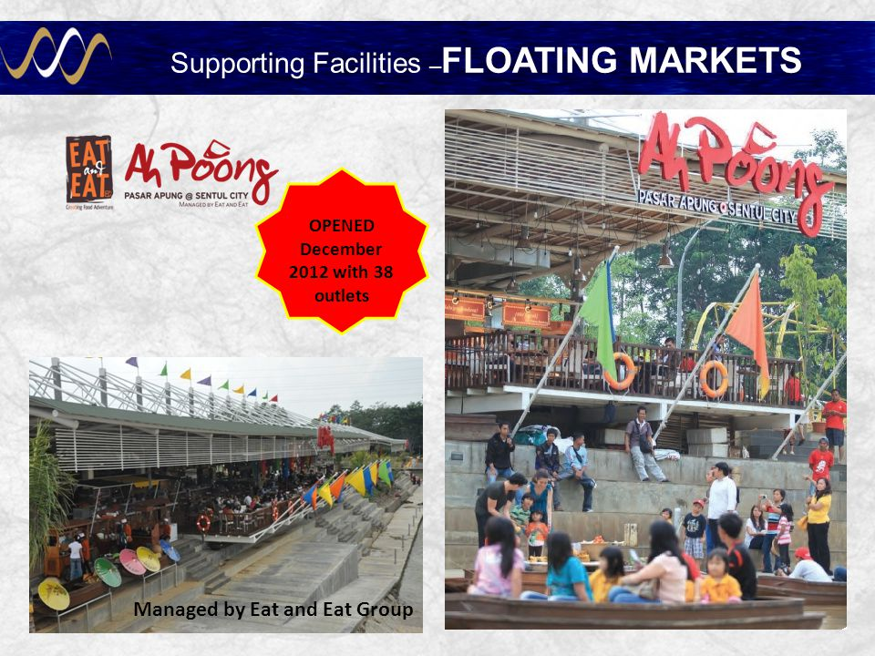 Supporting Facilities –FLOATING MARKETS