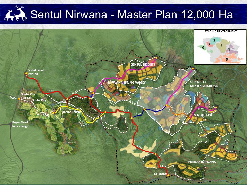 Sentul Nirwana - Master Plan 12,000 Ha