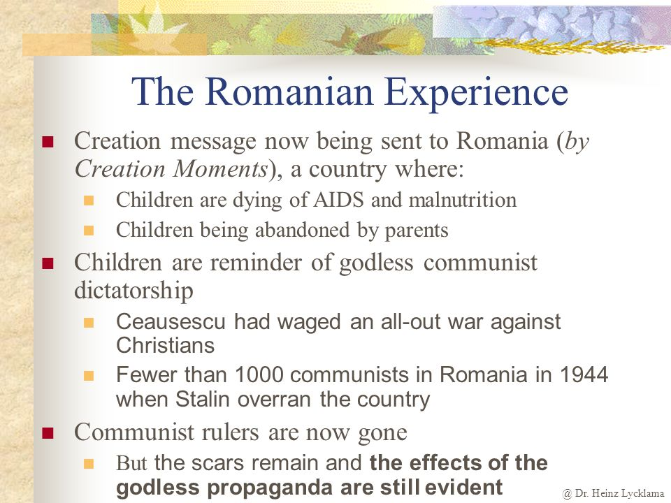 The Romanian Experience