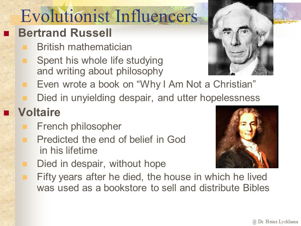 Evolutionist Influencers