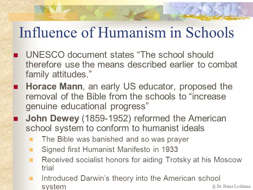 Influence of Humanism in Schools
